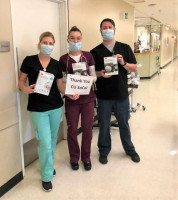 Doctors and nurses at San Antonio Regional Hospital give their thanks to CU SoCal